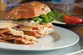 Deli sabroso sándwich