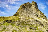 High Mountain Peak Near Troll Path. Norwegian Scenic Route Geiranger - Trollstigen. poster