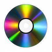 CD mit bunten Reflexionen