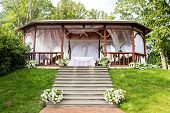 Wedding wooden arbour