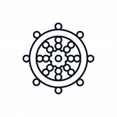 Buddhism Wheel Of Dharma Symbol Design, Religion Culture Belief Religious Faith God Spiritual Medita poster
