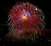bunte Feuerwerk