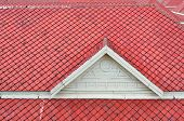 picture of isosceles  - The white gable and red baked clay roof - JPG