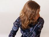 Profile Of Woman With Beautiful Hair