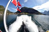 Sognefjord, Norway, Scandinavia.  View from the board of Flam - Bergen ferry.  poster