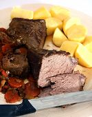Carved Pot Roast With Veg And Potatoes