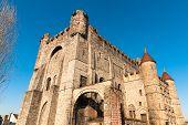 Majestic Medievalgravensteen, Castle Of The Counts Of Flanders, In Historic Part Of Ghent, Belgium poster
