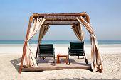 Hut On The Beach Of Luxury Hotel, Ajman, Uae