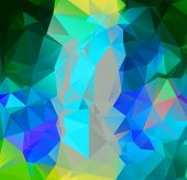 Abstract Multicolor Full Color Rainbow Background. Vector Polygonal Design Illustrator poster