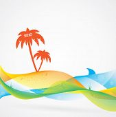 Abstract and colorful summer vector background, tropical theme