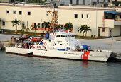 Us Coast Guard Cutter Docked In Miami