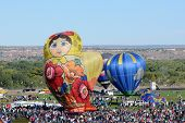 Crowds At The International Balloon Fiesta