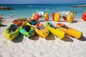 Beach equipment in the Bahamas