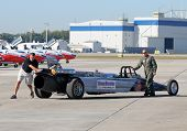 Us Air Force Jet Car Prepares For High Speed Stunt