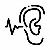 Making Sounds By Ear Icon Vector. Outline Making Sounds By Ear Sign. Isolated Contour Symbol Illustr poster