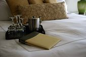 Luxury Hotel Room With Room Service Menu