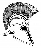 Black And White Trojan Helmet
