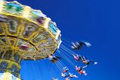 pic of carnival ride  - The flying chairs at the Brisbane RNA show  - JPG