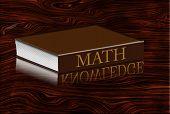 Math book reflecting knowledge in desktop