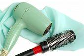Hair Dryer And Hairbrush