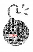Stress and  related words in word collage
