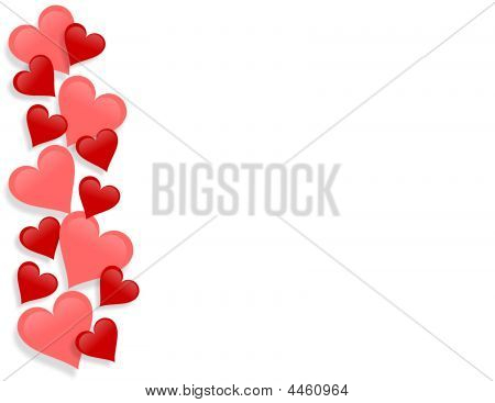 Valentines Day Border Hearts Poster Id 4460964