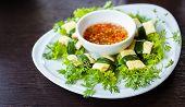 Omelette Roll Vegetable Vietnam Food