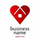 Logo Heart Home