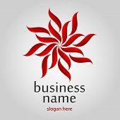 Red Flower Logo