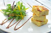Spanish Omelette With Salad