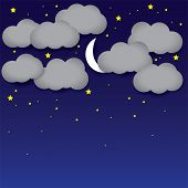pic of crescent-shaped  - Vector background - JPG