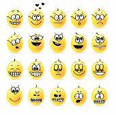 Vector Smiley Emotions Moods