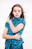 Disheveled Crying Young Girl