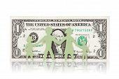 Papel da família e da nota de um dólar