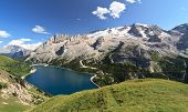 Dolomiti - Fedaia Lake And Marmolada Mount