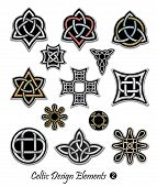 stock photo of celtic  - Celtic ornaments and embellishments for design and decoration - JPG