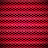 Red Seamless Circle Perforated Grill Texture