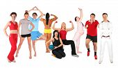 Grupo de la gente de deportes Collage