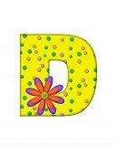 Alphabet Zany Dots D
