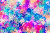 Abstract Coloured Jewel Background