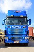 R620 blau Scania-Truck und Trailer