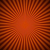 Orange Radial Rays Abstract Background