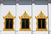 Window Of Hor Phra  In Temple Of The Wat Rhai Pa, Trat, Thailand