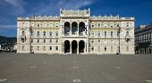 Governmental palace on the main square of Trieste, Italy