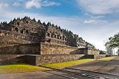 Borobudur mandala temple in surice , near Yogyakarta on Java island, Indonesia