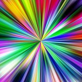 Multicolored explosion abstract illustration.
