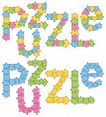 Puzzle Word Puzzle. All puzzle jigsaw has editable contour, so you can easily change the size of it