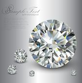 picture of diamond  - Luxury background with diamonds - JPG