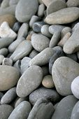 closeup of pebbles background