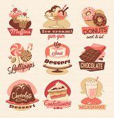 Süßigkeiten-Embleme